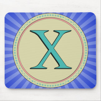 X MONOGRAM MOUSE PADS