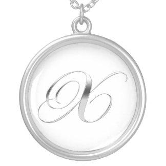 X Monogram Necklace