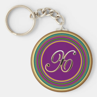 X monogramme mascarade From Party Time Creatives Basic Round Button Key Ring