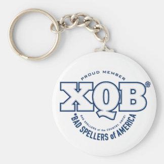 x.Q.B., Bad Spellers of America. Keychain. Basic Round Button Key Ring