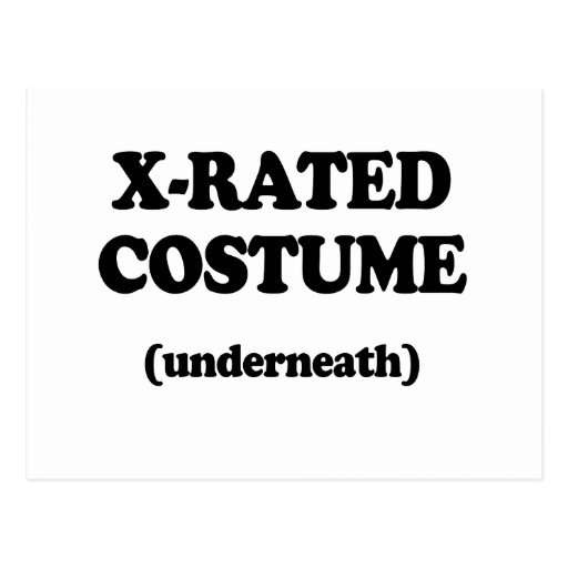 X-RATED COSTUME POST CARDS