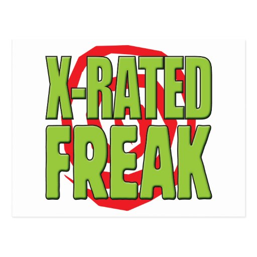 X-Rated Freak G Post Card