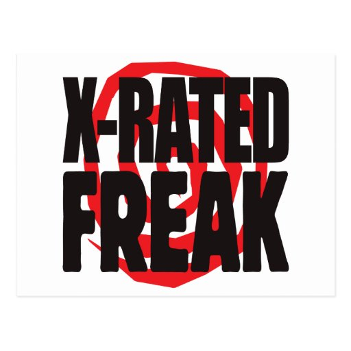 X-Rated Freak Post Card