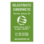 X-Ray Art Vertical Chiropractic Business Cards