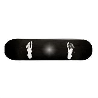 X-ray Bone Foot Human Skeleton  White 21.6 Cm Skateboard Deck