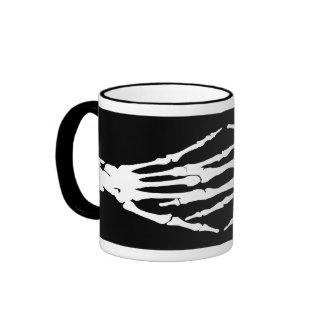 X-ray Bone Hands Human Skeleton-White Mug
