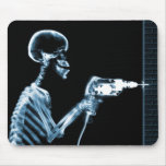 X-RAY CONSTRUCTION SKELETON DRILLING BLUE MOUSE MATS