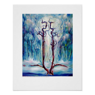 X-ray Cover art – Winter Carotids by L. Rainey Poster