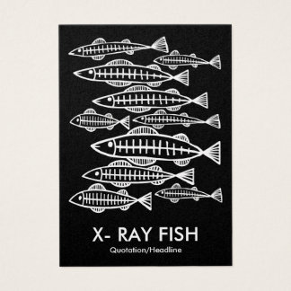 X-RAY FISH - Black (Platinum) Business Card