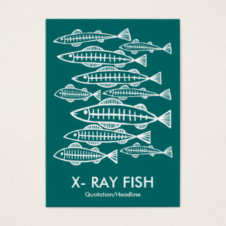 X-RAY FISH - Moss Green Business Card