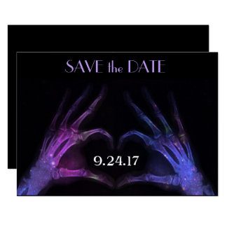 X-ray Hands Make Heart Save the Date Card