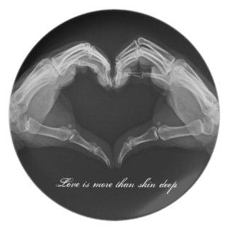 X-Ray Heart Love Plate
