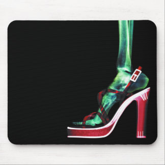 X-RAY HIGH HEEL LADY SKELETON LEG ORIGINAL MOUSE PAD
