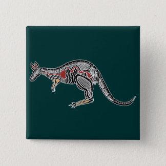 X-Ray Kangaroo 15 Cm Square Badge