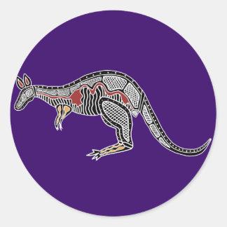 X-Ray Kangaroo Classic Round Sticker