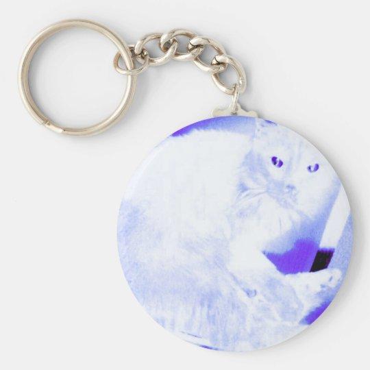 X-ray Kitty Basic Round Button Key Ring