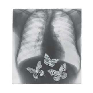 X-ray of butterflies in the stomach notepads
