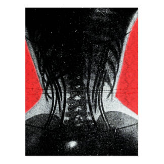 X-Ray Of Woman In A Corset Postcard