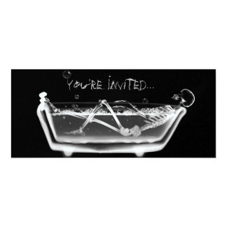 X-Ray Skeleton B&W Bath Time Invites