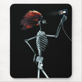 X-RAY SKELETON HAIR STYLING - ORIGINAL MOUSE PAD