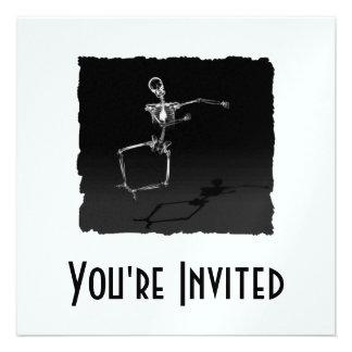 X-RAY SKELETON JOY LEAP B&W PERSONALIZED INVITATIONS
