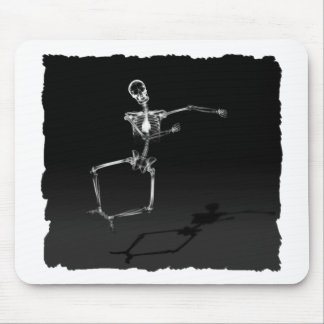 X-RAY SKELETON JOY LEAP B&W MOUSE MAT