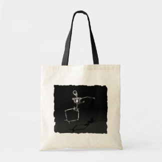 X-RAY SKELETON JOY LEAP B&W TOTE BAG
