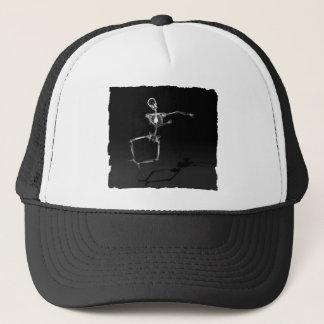 X-RAY SKELETON JOY LEAP B&W TRUCKER HAT