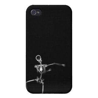 X-RAY SKELETON JOY LEAP - BLACK & WHITE CASE FOR THE iPhone 4