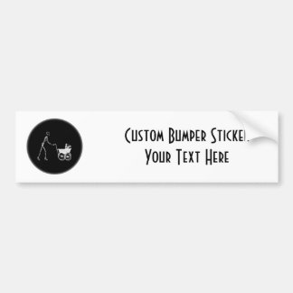 X-Ray Skeleton Mom & Baby - Original B&W Bumper Sticker