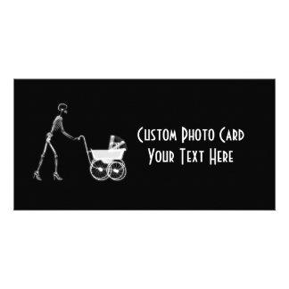 X-Ray Skeleton Mom & Baby - Original B&W Customised Photo Card