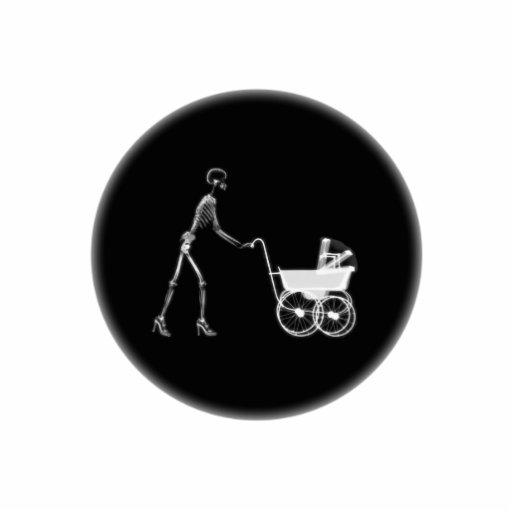 X-Ray Skeleton Mom & Baby - Original B&W Photo Cutouts