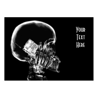 X-RAY SKELETON ON CELL PHONE BLACK & WHITE PACK OF CHUBBY BUSINESS CARDS