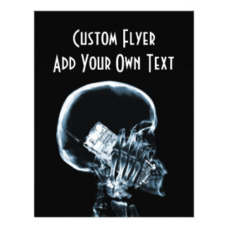 X-RAY SKELETON ON PHONE - BLUE FLYER