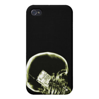 X-RAY SKELETON ON - YELLOW iPhone 4 COVERS