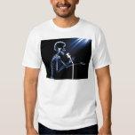 X-RAY SKELETON SINGING ON RETRO MIC - BLUE TSHIRT