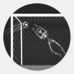X-RAY SKELETON SOCCER GOALIE B&W