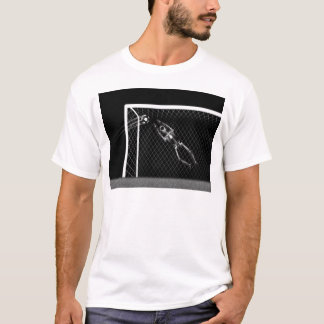X-RAY SKELETON SOCCER GOALIE B&W T-Shirt