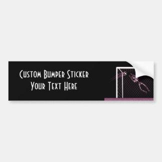 X-RAY SKELETON SOCCER GOALIE PINK BUMPER STICKER