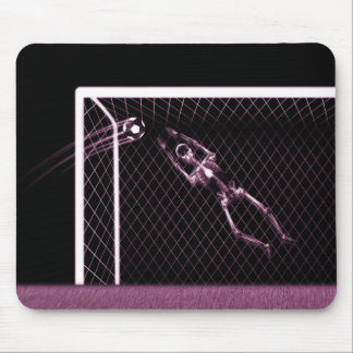 X-RAY SKELETON SOCCER GOALIE PINK MOUSE MAT
