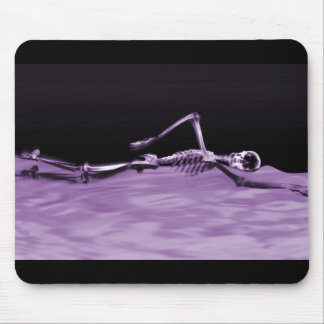 X-Ray Skeleton Swimming - Purple Mouse Mat