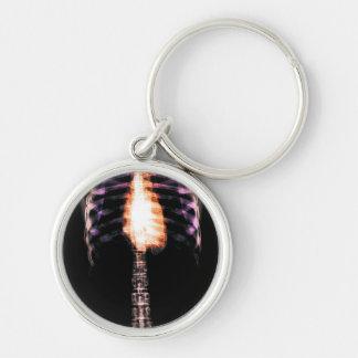 X-RAY SKELETON TORSO RIBS - ORIGINAL Silver-Colored ROUND KEY RING