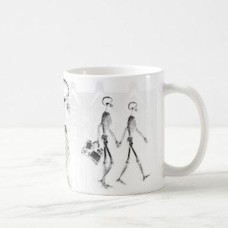 X-Ray Skeletons Afternoon Stroll Neg BW Basic White Mug