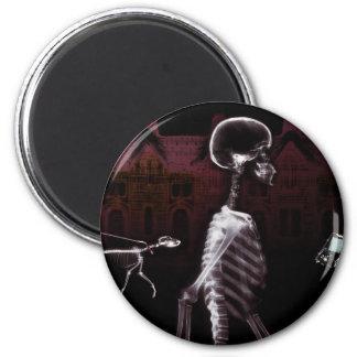 X-Ray Skeletons Midnight Stroll 6 Cm Round Magnet
