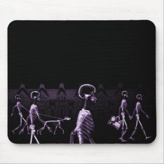 X-Ray Skeletons Midnight Stroll Black Purple Mouse Pad