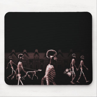 X-Ray Skeletons Midnight Stroll Black Red Mousepad