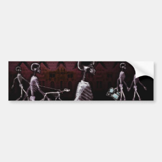 X-Ray Skeletons Midnight Stroll Car Bumper Sticker