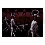 X-Ray Skeletons Midnight Stroll Cards