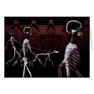 X-Ray Skeletons Midnight Stroll Greeting Card