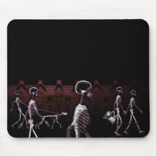 X-Ray Skeletons Midnight Stroll Mouse Pad